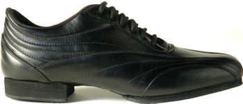 Vida Mia - Men's Black Leather Dance Sneakers